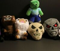 1 Complete set of 5 pcs of Most Amazing Plushes Skull Zombie Sheep Cow
