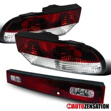 For 1989-1994 Nissan 240SX S13 3DR Hatchback 3PC Tail Lights Rear Lamp+Trunk