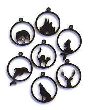 Open Back Bezel Acrylic Pendants Laser Cut DIY Jewellery Pendants Necklaces