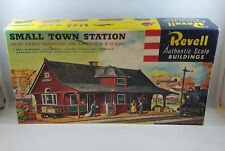 Revell Train Model Kit HO Small Town Station T-9001-249 BOX & INSTRUCTIONS ONLY