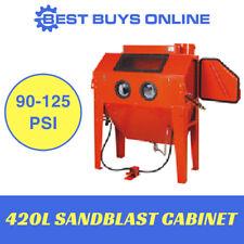 Sandblaster Sandblasting Cabinet 420L Industrial Heavy Duty w/ Vacuum System