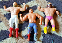 WWF LJN Bendies Damaged Goods Macho Man Randy Savage, Iron Sheik & Big John Stud