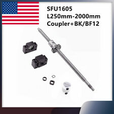 Sfu1605 250mm 2000mm Cnc Set Ball Screw End Machined Amp Bkbf12 Support Amp Coupler