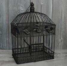 Deko Vogelkäfig 43cm schwarz - braun antik Metall Dekokäfig Laterne Gothik NEU