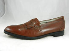 Barely Worn CROWN Imperial Collection  Loafers in Saddle Tan Men's Size 10 1/2