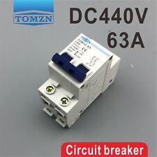 2P 63A DC 440V Circuit breaker MCB C curve