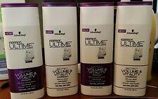 4x Schwarzkopf Essence Ultime Biotin + Volume & Vitality Shampoo & Conditioner
