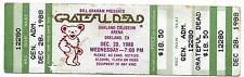 GRATEFUL DEAD TICKETS MAIL ORDER 12-28-1988 OAKLAND NEW YEARS RUN