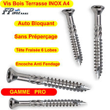 Vis Terrasses INOX A4 Bois Dur Exotique GAMME PRO 5x50 5x60 5x70 Piscine