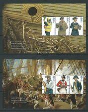 GREAT BRITAIN 2009 ROYAL NAVY UNIFORMS PAIR OF BOOKLET PANES PANE UNMOUNTED MIN
