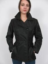 RUDSAK CANADA BLACK NYLON LEATHER LADIES TAILORED FITTED JACKET COAT~XS