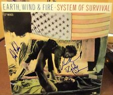 "Earth Wind and Fire signed System of Survival 12"" LP"