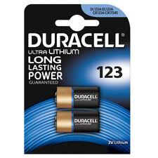 2 x DURACELL 123 CR123A DL123 Batteria al litio 3v Ultra Foto EL123A L123A pl123