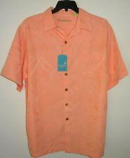 Roundtree Yorke Caribbean Camp Shirt Peach BIG 4X Short Sleeve NWT (RYC207)