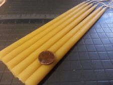 "28 Organic beeswax candles 1/2"" X 12"" Long hand made"