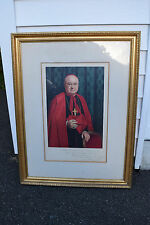 "+ Nice Older Framed Picture of ""Cardinal Spellman"" (Hand Signed) + chalice co."