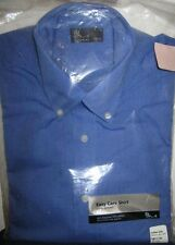 BHS Gents Long Sleeve Blue EasyCare Button Collar Shirt Size 14 1/2