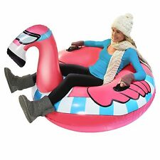 GoFloats Winter Snow Tube Flying Flamingo The Ultimate Sled and Toboggan