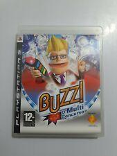 BUZZ El Multi Concurso PlayStation 3  PAL España COMPLETO SOLO JUEGO NO MANDOS