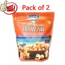 2Pk MacFarms Dry Roasted Macadamia Nuts With Sea Salt Fresh From Hawaii 24 Oz