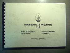 Parts Manual MASERATI MEXICO AM 112 catalogo parti di ricambio RAR parti di ricambio