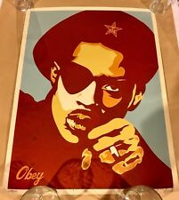 Obey Giant Slick Rick Red Shepard Fairey Signed 218/300 Rare Limited Edition