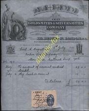 1931 LONDON, BEAUTIFULLY ILLUSTd GOLDSMITH & SILVERSMITHS CO. TO LIEUT. B. DAND
