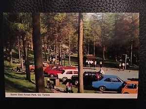 Gortin Glen Forest Park Vintage Postcard,Northern Irish Co Tyrone Landscape Cars