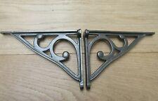 PAIR OF ASHWELL SCROLL cast iron vintage Industrial cistern shelf bracket