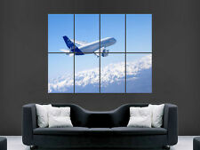 Airbus A380 super jumbo avion giant wall poster art photo imprimé large