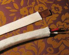 Reine Baumwolle, Geflechtschlauch, Gewebeschlauch, natur, 6-20 mm