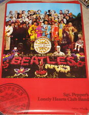 PETER BLAKE ~ SGT PEPPERS LONELY HEARTS CLUB BAND ~ HAND SIGNED POSTER ~ BEATLES
