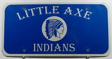 "USA Nummernschild ""LITTLE AXE INDIANS"" mit Indianer Boosterschild. 8073."