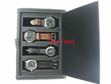 4 Watch Black Folder Traveling Storage Case Fit Panerai
