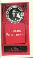 EDISON PHONOGRAPHS 1906 INTRODUCTION & PRICE GUIDE ADVERTISEMENT BOOKLET 32 PGS.