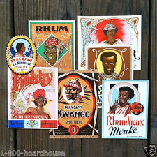Vintage Original RUM LIQUOR Black Americana Bottle Label Collection 1920-30s NOS