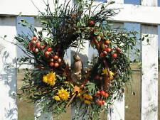 Thanksgiving Wreaths Chipmunk Berries Cinnamon Sticks Nuts Door Fireplace Decor