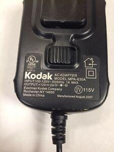 Genuine Kodak MPA-630A AC Adapter 12V 2A