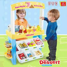 Kids Supermarket Pretend Play Ice cream Dessert Toys Set Scanner Cash Register