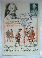 JOURNEE NATIONALE DU TIMBRE MARSEILLE 1949 / CHOISEUL / CARTE POSTALE