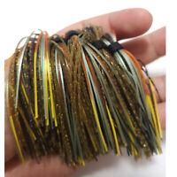 25 Feet Light Gray Medium Rubber Skirt Material Spinnerbait Jig Fishing Fly Bass
