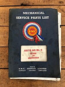 Austin A40 Mk.ll saloon and countryman service parts list