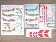 """CANADAIR SABRE MK.6 """"2 RCAF/SKYLANCERS"""" LEADING EDGE DECALS 1/48"""