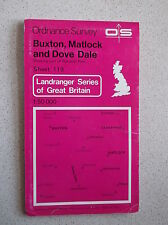 ORDNANCE SURVEY BUXTON, MATLOCK and DOVE DALE MAP SHEET 119 c1979 NATIONAL PARK