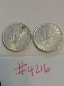 🇭🇺🇭🇺 1971 & 1972 Hungary / Hungarian 20 Filler Coins 🇭🇺🇭🇺