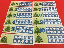 Christmas - Christmas Tree Ten-Frames - Laminated Activity Set - Teaching