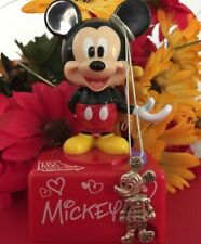 Mickey Mouse Pendant Charm Sterling Silver Moving Parts Vtg FINAL PRICE DROP!