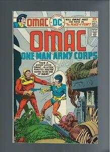 OMAC #8 (DC 1975) VF+ 8.5, Jack Kirby, Joe Kubert Artwork, 25 cent cover