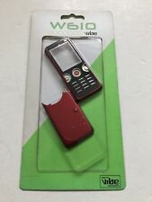 Sony Ericsson w610 Full Fascia Housing Cover Front Back Case Keypad Red