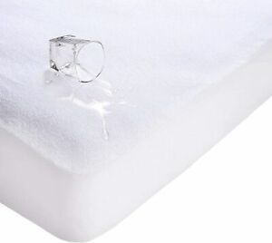 New Waterproof Terry Towel Mattress Protector Anti Bug Cover Sheets All Sizes